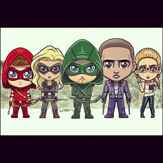 the tv show Arrow fan art Arrow Tv, Team Arrow, Marvel Vs, Marvel Dc Comics, The Flash, Lord Mesa Art, Series Dc, Chibi, Caleb