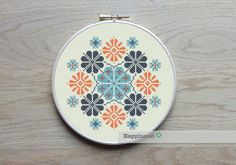geometric cross stitch pattern, modern cross stitch, PDF ** instant download** by Happinesst on Etsy https://www.etsy.com/listing/214654718/geometric-cross-stitch-pattern-modern
