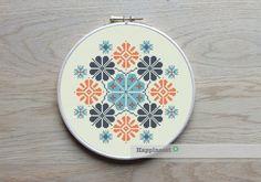 geometric cross stitch pattern, modern cross stitch, PDF ** instant download** by Happinesst on Etsy https://www.etsy.com/listing/214654718/geometric-cross-stitch-pattern-modern