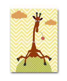 Giraffe Nursery Print Kids Art Digital file by nataeradownload