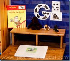Letter G Gorilla, Animal ABC, Tot School