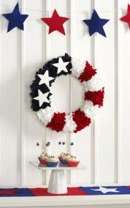 Directions from MakeItFunCrafts patriotic felt wreath.