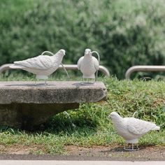 Bird Table Lamp in the White Peace and Naturality Romance