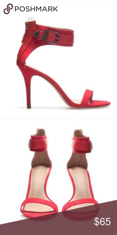 ZARA Red Heels Sandals Size 40. Fits 8.5 to 9. Great like new condition. 1st pic for style inspiration only. Zara Shoes