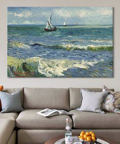 Another great find on #zulily! Van Gogh Seascape Near Les Saintes Maries de la Mer Replica Wrapped Canvas #zulilyfinds