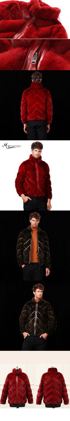 M.Y.FANSTY Shuba 2017 Winter Swan Velvet Mink Mandarin Collar Man Coat Real Fur Side Inside Wear Zipper Jacket Short Mink Coats