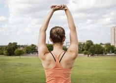 10 Great Exercises for Helping Lower Back Pain: Arm Overhead Upper Back Stretch and Core Strengthener