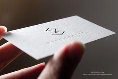 RockDesign.com | High End Business Cards | Premium White Uncoated Stock  Uncoated business card with embossing, foil stamping