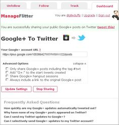 How to Sync Google+ to twitter and FB