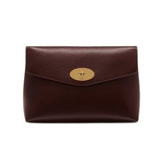 Shop the Large Darley Cosmetic Pouch at Mulberry.com. Keep your cosmetics tucked away with the Darley Cosmetic Pouch. Crafted from Mulberry's signature grained leather, it is finished with the iconic postman's lock. Lined with a foil-embossed Mulberry signature interior, it is a compact travel size to carry make-up essentials.