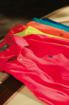Signature Polos in new colors, new fits and new styles for summer 2015.