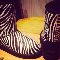 Zebra Print UGG Boots https://www.etsy.com/shop/MyselfJewellery