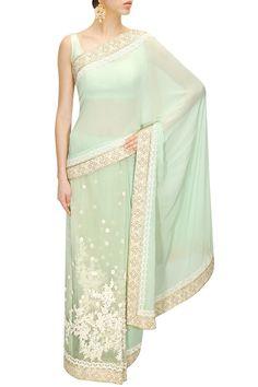 Light Green #Sabyasachi #greenSaree – Panache Haute Couture #panachehautecouture