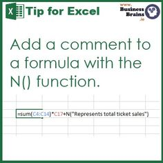 Comment Excel formulas with the N() function Microsoft Excel, Microsoft Office, Computer Help, Computer Programming, Computer Tips, Computer Engineering, Computer Technology, Energy Technology, Technology Gadgets