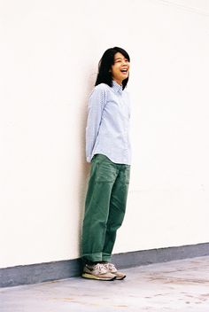 Another tom boy style featuring the all classic olive drab fatigue pants perfectly worn in teamed up with a pair of new Banalise 998's. Japan does it better!