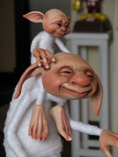 Troll and Child Elves And Fairies, Clay Fairies, Sculpture Clay, Sculptures, Trolls, Kobold, Baby Fairy, Polymer Clay Dolls, Paperclay