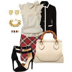 Work outfits 75 by adgubbe on Polyvore featuring polyvore, fashion, style, Miss Selfridge, Lauren Ralph Lauren, Vivienne Westwood, Gucci, Ben-Amun, Bling Jewelry and Gemvara
