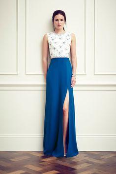 【ドレス Dresses スリム slim スリット slit】Jenny Packham | Resort 2015 Collection | Style.com