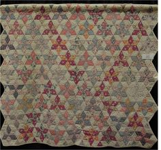 Quilt Inspiration: Vintage Hexagon Quilts. Six Point Star quilt, exhibited by Sheila Arnold