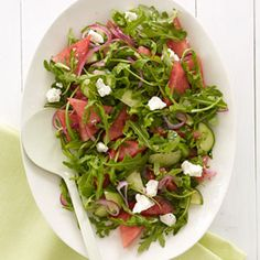This surprising salad (feta+watermelon!) makes a fresh and fast midday meal. #recipes