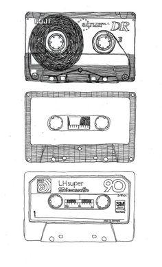 I loved my mixtapes! Mixtape by Frida Stenmark Lps, Art And Illustration, Retro, Mixtape, Doodle Art, Art Inspo, Illustrators, Art Drawings, Doodles