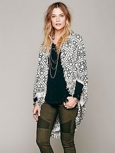 Free People Ikat Hooded Poncho