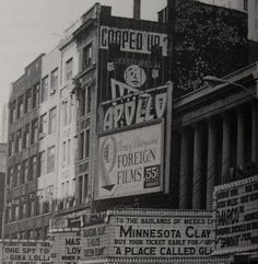 TIMES SQAURE 1966 42nd Street Marquees Vintage New York City by Christian Montone, via Flickr