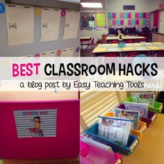Classroom I love clever tricks to help with management and organization. Anything to make my life easier! I want to share some of my classroom hacks that you can use tomorrow in your classroom. Classroom Hacks, Classroom Organisation, New Classroom, Teacher Organization, Classroom Management, Teacher Hacks, Behavior Management, Teacher Binder, Highschool Classroom Decor