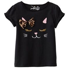 Available in long sleeve as well // Jumping Beans Kitten Tee - Toddler