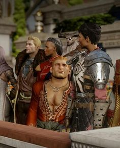 And I give you Varric gazing at Cassandra Pentaghast like she is the most precious thing in the world. Ship it. Ship it hard.