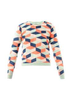 Carven Geometric Mohair Sweater
