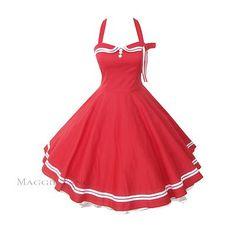 Maggie Tang 50s 60s V Neck Vintage Dancing Swing Jive Rockabilly Dress Petticoat | eBay
