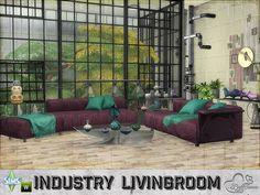 Industry livingroom by BuffSumm at TSR • Sims 4 Updates