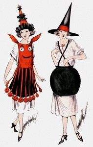 witch halloween costume vintage 1930's era witch costume pattern cover