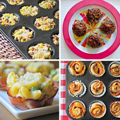 "9 Muffin Tin Toddler Meals- okay, but if I can bake it in a muffin tin, it is also now a ""college student attempts to cook with oven that hasn't functioned properly since meal! Muffin Tin Recipes, Baby Food Recipes, Snack Recipes, Cooking Recipes, Toddler Recipes, Muffin Tins, Pan Cooking, Party Recipes, Mini Muffins"