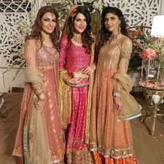 Spotted #SarahSattar and #AmnaRafiq in #MishaLakhani with the bride #MahamRafiq in #MrsKazmi at her Qawali night!  #weddings #pakistan #stylespotting