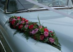 Autostuk met rozen