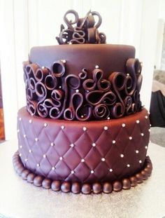 Looking for cake decorating project inspiration? Check out Death by chocolate by member Chocolate Fondant Cake, Death By Chocolate Cake, Cake Icing, Fondant Cakes, Cupcake Cakes, Cupcakes, Quilling Cake, Cricut Cake, Gravity Cake