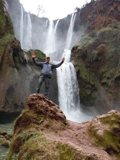 Me at the Ouzoud Waterfalls, Morocco, January 2012