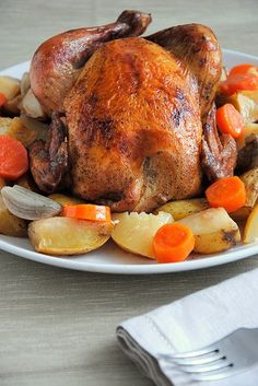 Kuriatko  na  víne so  zeleninou Turkey, Meat, Food, Fall Of Man, Turkey Country, Essen, Meals, Yemek, Eten