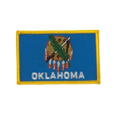 Middle State Embroidered Patches - Oklahoma