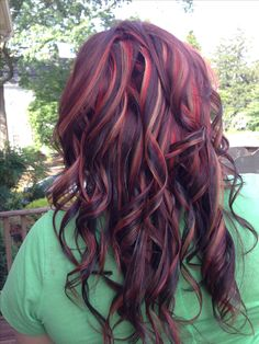 Love the colors but less chunky of highlights/lowlights... Hair Color And Cut, Haircut And Color, Cool Hair Color, Brown Hair Colors, Love Hair, Great Hair, Gorgeous Hair, Different Hair Colors, Dyed Hair