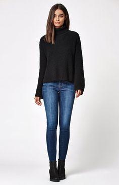 Slub Turtleneck Pullover Sweater