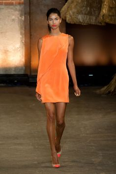 Pin for Later: The Ultimate Guide to Spring's Biggest Color Trends Orange Appeal Christian Siriano Spring 2014