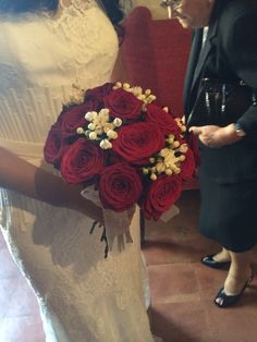 Red&white bouquet