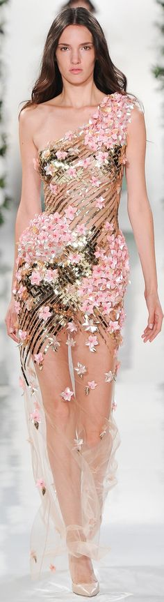 Fleur fashion / karen cox. Valentin Yudashkin ~ Spring Embellished Sheer Mini, 2015