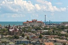 A view of the East End, the Hotel Galvez, and the Galveston Island Historic Pleasure Pier