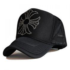 Stylish Cross Shape Rhinestones Embellished Women's Baseball Cap