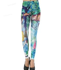Alice in Wonderland Leggings print Cheshire Cat by notyetshop, $23.00