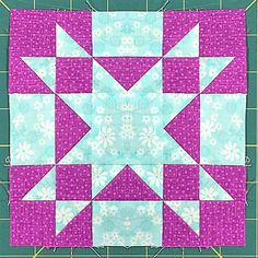 The photo above © Julie Baird This quilting pattern / tutorial is available for free. Quilt Patterns Free, Free Pattern, Star Quilt Blocks, Amish, Quilting, Diy Crafts, Stars, Crochet, Sewing Ideas